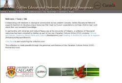 Aboriginal Resources - www.ourfutureourpast.ca/galileo/