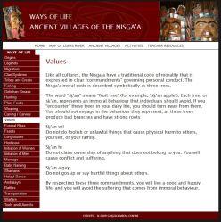 screenshot ways of life Nisga;a.