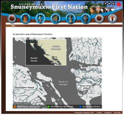 Voices of Snuneymuxw Virtual Museum screenshot map