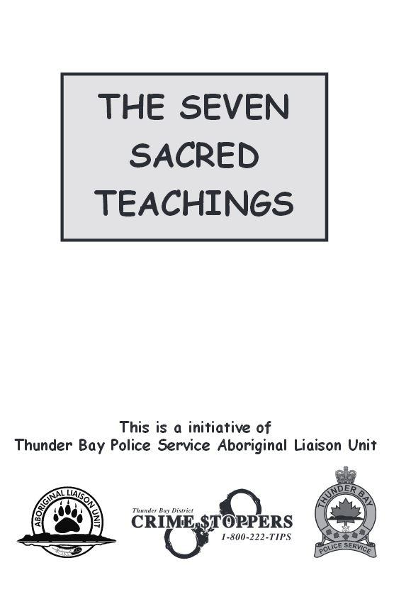 Seven Sacred Teachings Flash Cards