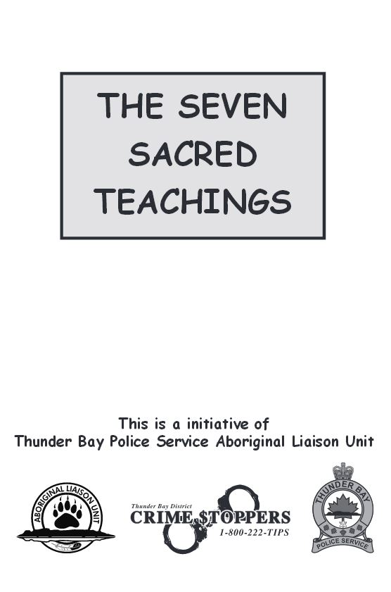 the seven sacred teachings cards educational